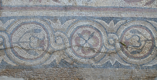 Mosaic floor with floral motifs, Mertola, Lusitania, Portugal © Carole Raddato