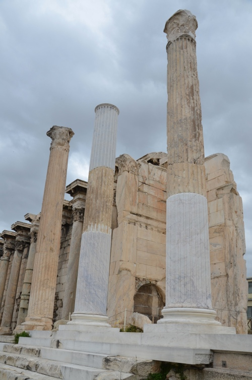 Re-erected Corinthian columns of the propylon of Pentelic marble, The Library of Hadrian, Athens © Carole Raddato