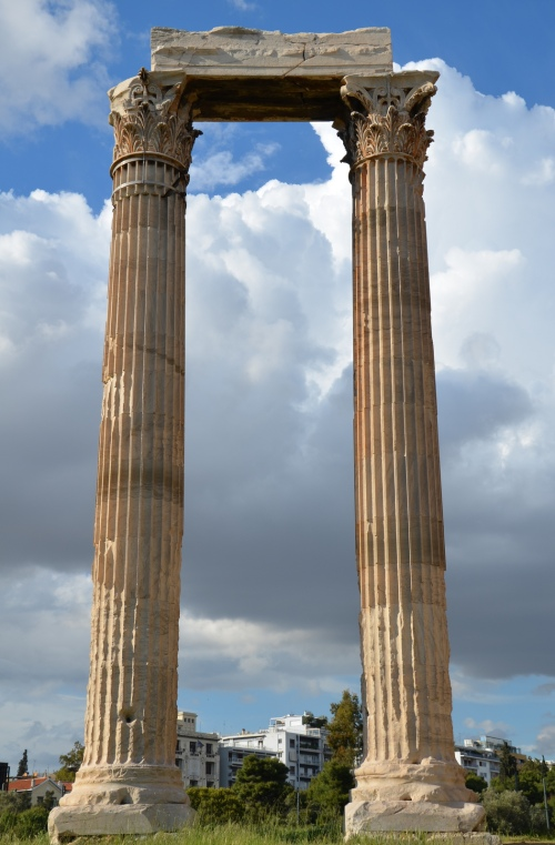 Temple of Olympian Zeus, Corinthian columns and capitals detail, Athens © Carole Raddato