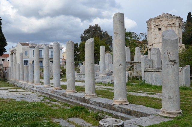 The colonnade on the east side of the courtyard of the Roman Agora, Athens © Carole Raddato
