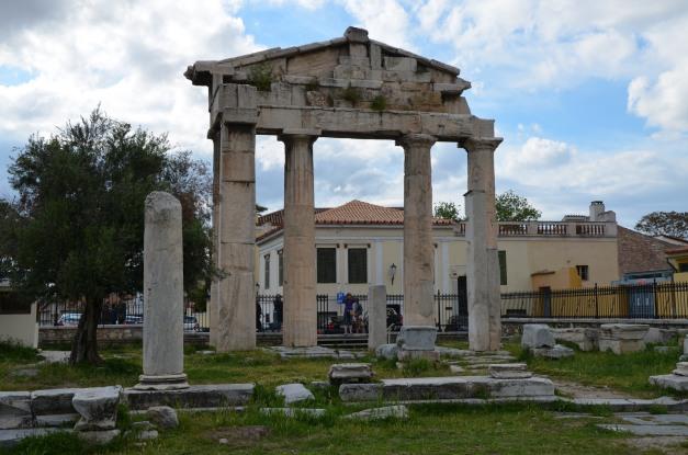 The Gate of Athena Archegetis, the main entrance to the Roman Market, Roman Agora, Athens © Carole Raddato