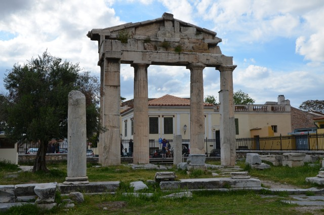 The Gate of Athena Archegetis, the main entrance to the Roman Market, Roman Agora, Athens © Carole Raddato