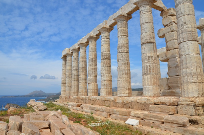 Temple of Poseidon, built around 444 – 440 BC, Cape Sounion © Carole Raddato