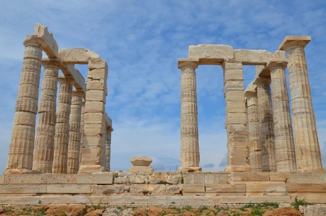 The temple of Poseidon at Cape Sounion, north side colonnade, Cape Sounion © Carole Raddato