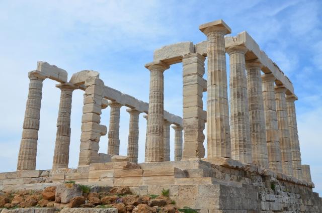 The temple of Poseidon at Cape Sounion from the northeast, Cape Sounion © Carole Raddato
