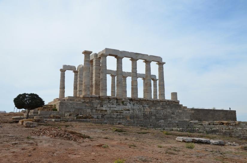 The temple of Poseidon at Cape Sounion from the north, Cape Sounion © Carole Raddato