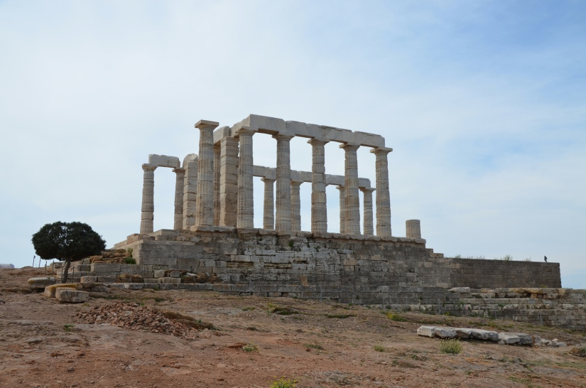 The temple of Poseidon at Cape Sounion from the north, Cape Sounion © Carole Raddato