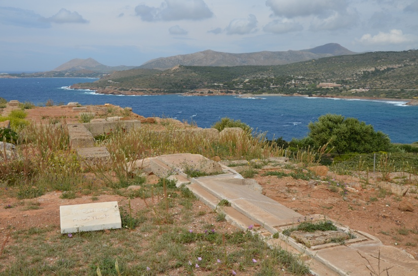 The propylaea, a monumental constructon of poros and marble, to the north of the temple, through which the sacred precinct of Poseidon was entered, Cape Sounion © Carole Raddato