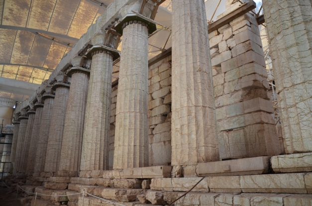 The Temple of Apollo Epikourios at Bassae, east colonnade © Carole Raddato