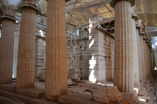 The Temple of Apollo Epikourios at Bassae, Opisthodomos and west colonnade © Carole Raddato