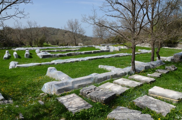 The scattered architectural elements of the Temple of Apollo Epikourios at Bassae © Carole Raddato