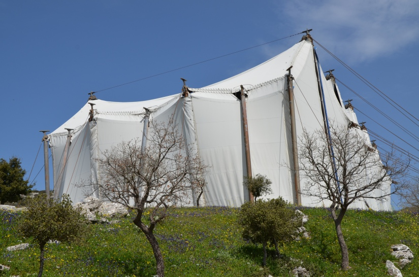 The Temple of Apollo Epikourios at Bassae, the temple is covered by a tent a present, while the structure is made more secure © Carole Raddato