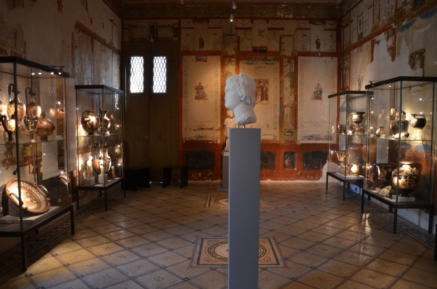 The exhibition room, Pompeiianum, Aschaffenburg, Germany © Carole Raddato