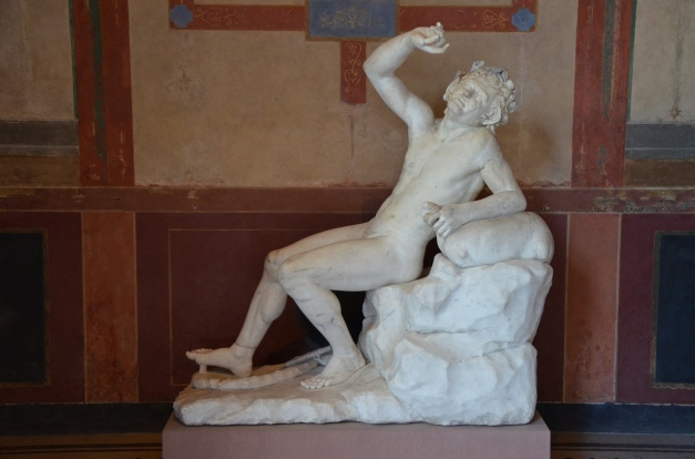 Drunken Satyr statue, Pompejanum. Aschaffenburg, Germany © Carole Raddato