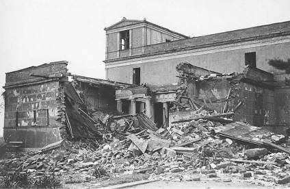The Pompeiianum after the Word World II bombings.
