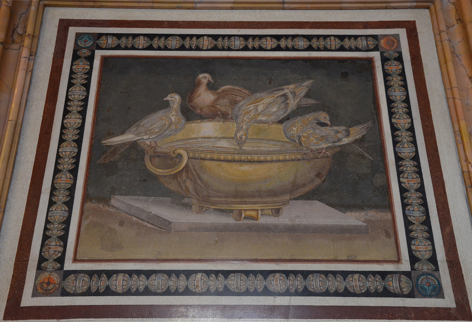 Art and sculptures from Hadrian's Villa: Mosaic of the Doves