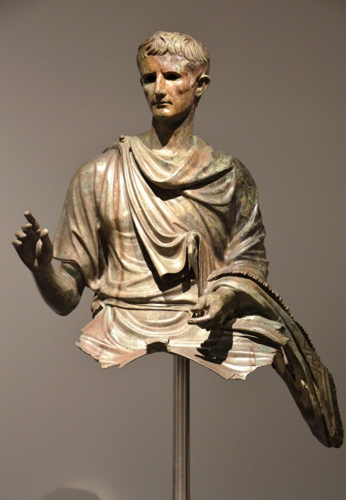 Fragment of a bronze equestrian statue of Augustus dating from the end of the 1st century BC © Carole Raddato