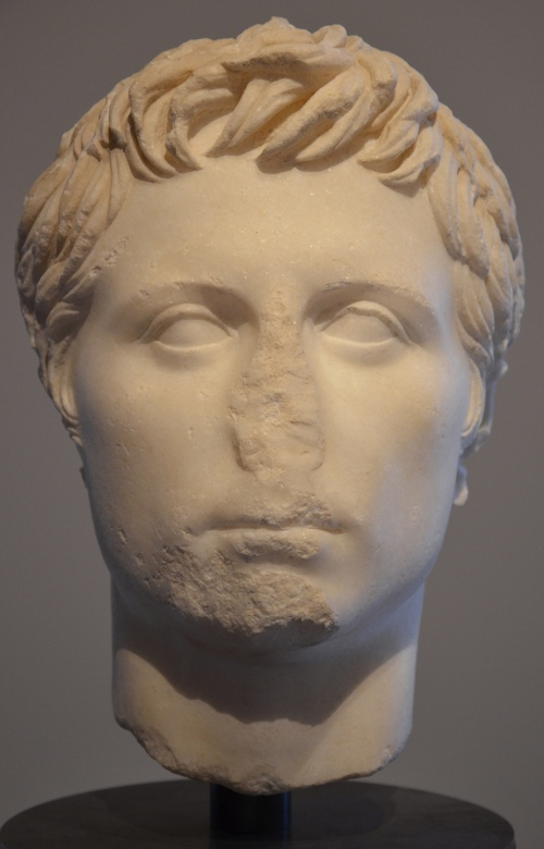 Head of Octavian, dating to the Triumvirate at the time of the Battle of Philippi (42 BC), the oldest portrait known Museo Archeologico Statale di Spoleto © Carole Raddato