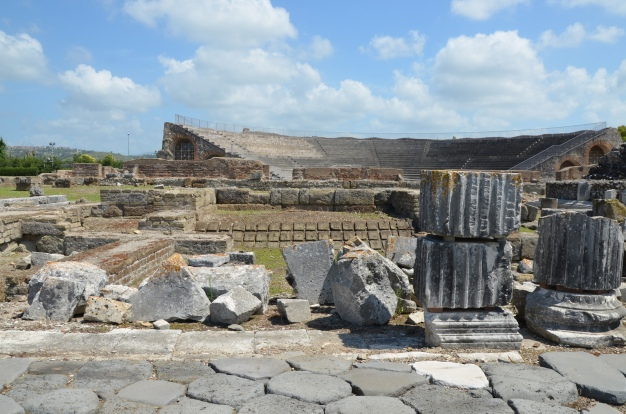 The ruins of the Capitolium (temple dedicated to the triad Jupiter, Juno and Minerva), an Etrusco-Italic type temple built ca. 191 BC,  Minturnae © Carole Raddato