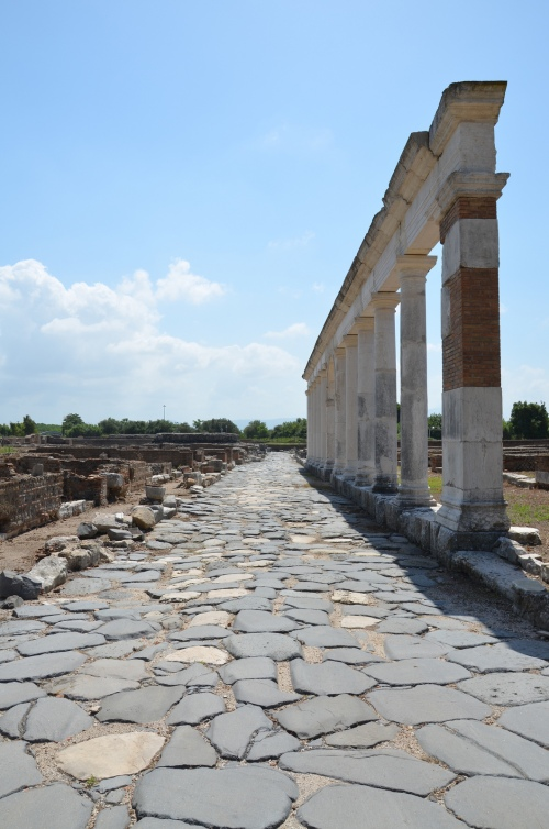 A stretch of the Appian Way passing through the ancient city and serving as its decumanus maximus, Minturnae © Carole Raddato
