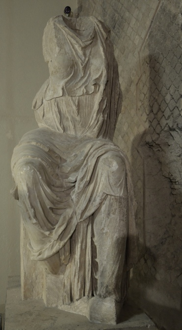 Seated statue of Livia, found in the Roman theatre, Antiquarium of Minturnae