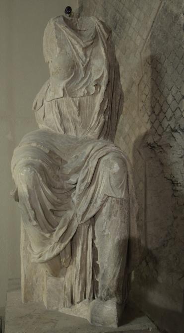 Seated statue of Livia, found in the Roman theatre, Antiquarium of Minturnae