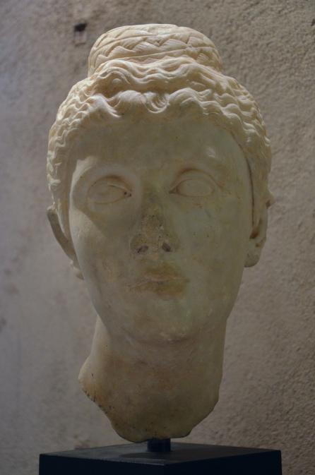 Marble head of Faustina the Elder, Antiquarium of Minturnae