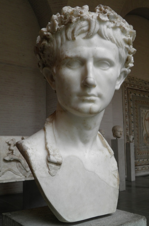 "The so called ""Augustus Bevilacqua"", bust of the emperor Augustus wearing the Corona Civica, Glyptothek, Munich © Carole Raddato"