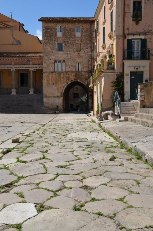 Forum Aemilianum, stretch of the Via Appia, Tarracina (Anxur), Terracina, Italy © Carole Raddato