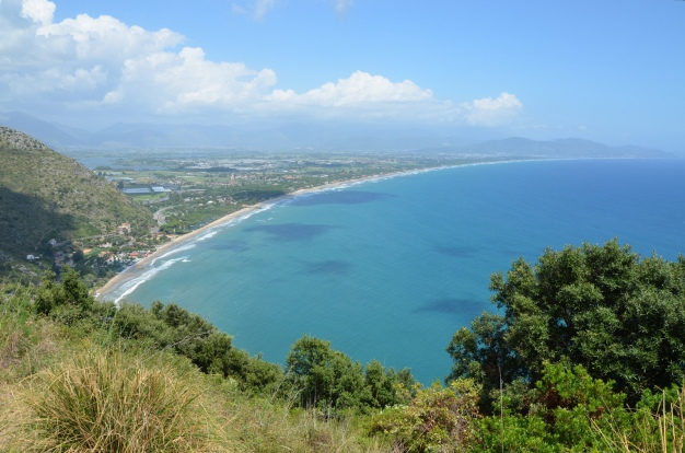 View of the Fondi plain from the Sanctuary of Jupiter Anxur, Terracina, Italy © Carole Raddato