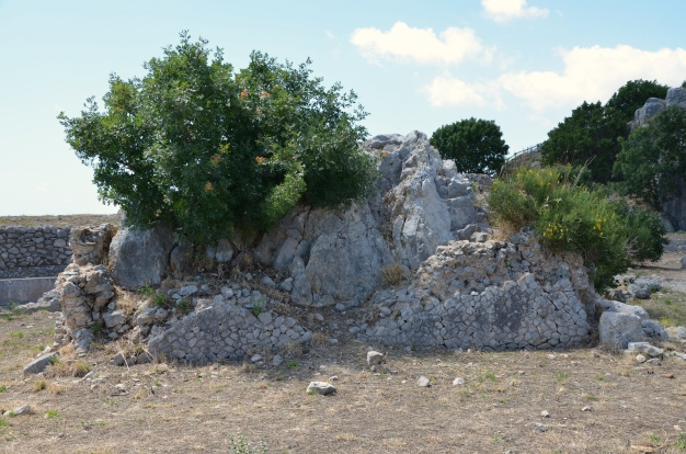 The rock of the Oracle of the so-called Temple of Jupiter Anxur, Terracina, Italy © Carole Raddato