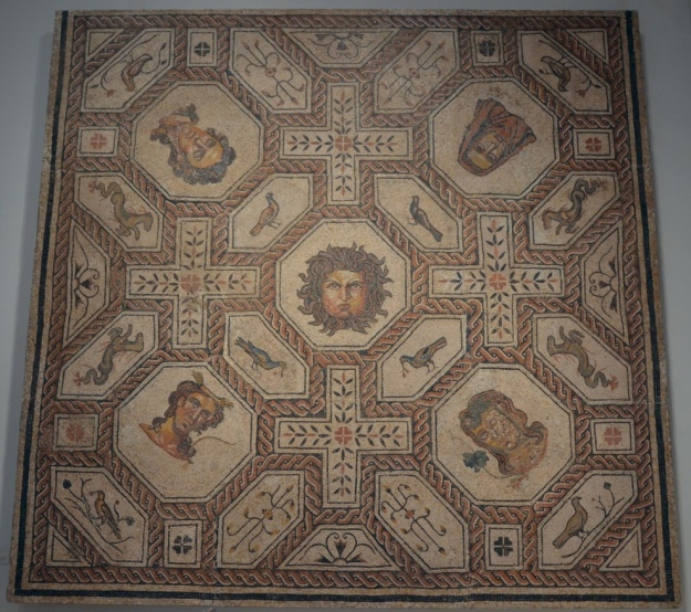 Mosaic of Medusa and the seasons, ca. AD 167-200, found in Palencia National Archaeological Museum of Spain, Madrid © Carole Raddato