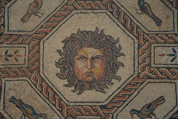 Detail of the Mosaic of Medusa and the seasons, ca. AD 167-200, found in Palencia National Archaeological Museum of Spain, Madrid © Carole Raddato