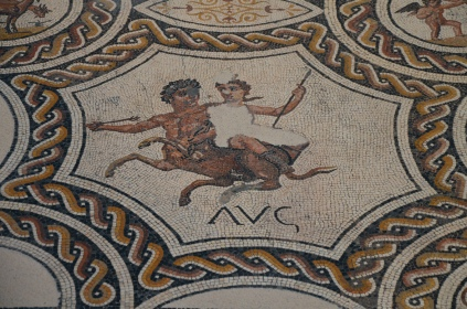 Detail of the mosaic of the seasons and the months, 3rd century AD, found in Hellin (Albacete) National Archaeological Museum of Spain, Madrid