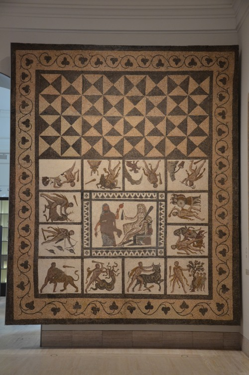 Mosaic with the Labors of Hercules, 3rd century AD, found in Liria (Valencia), National Archaeological Museum of Spain, Madrid © Carole Raddato