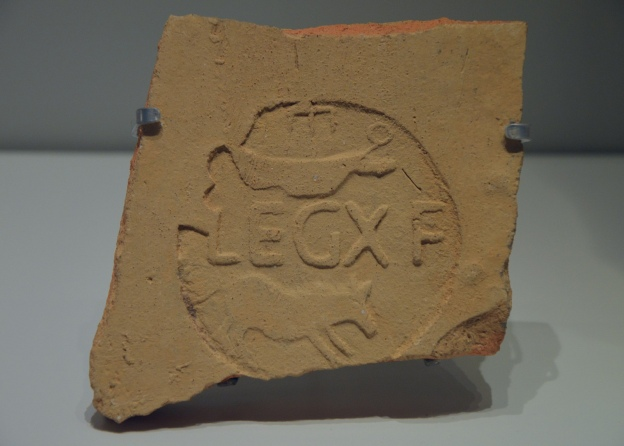 Tile fragment with a stamp of the Tenth Legion,