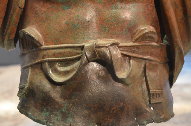 Bronze statue of Hadrian, detail of the military belt (cingulum), found at the Camp of the Sixth Roman Legion in Tel Shalem, Israel Museum, Jerusalem © Carole Raddato