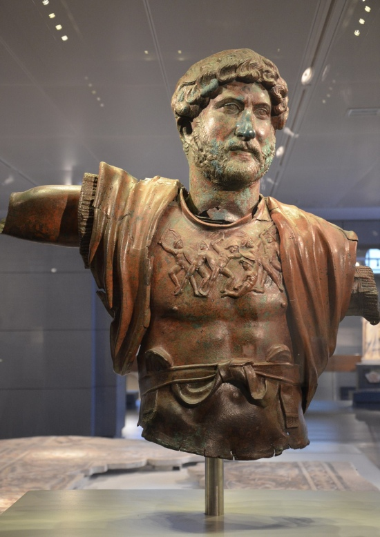 Bronze statue of Hadrian, found at the Camp of the Sixth Roman Legion in Tel Shalem, 117–138 AD, Israel Museum, Jerusalem © Carole Raddato