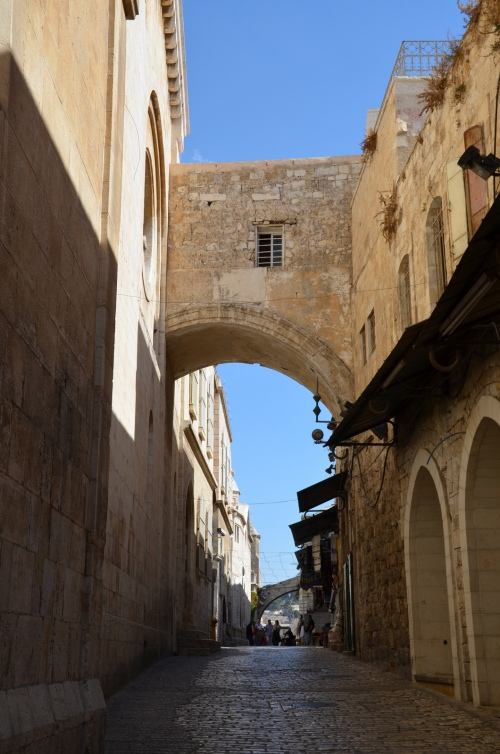 The Ecce Homo arch, a triple-arched gateway, built by Hadrian, as an entrance to the eastern Forum of Aelia Capitolina, Jerusalem © Carole Raddato