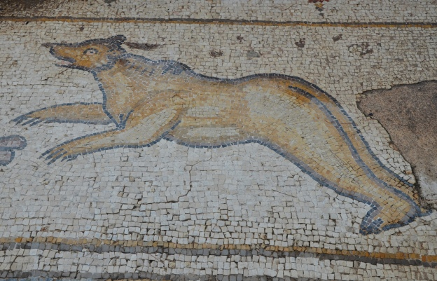 A bear, detail from the 6th century AD Bird Mosaic, Israel Sadly the local lions are now extinct © Carole Raddato