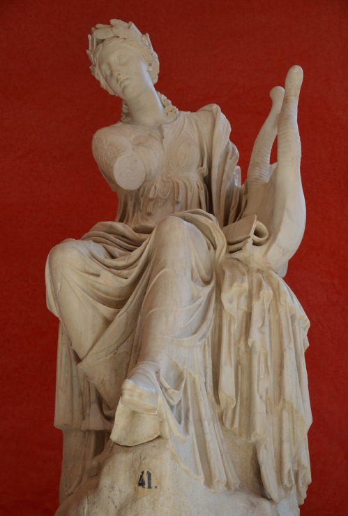 Statue of Terpsichore, Muse of dancing and choral song, unearthed in about 1500 in Hadrian's Villa, Tivoli © Carole Raddato