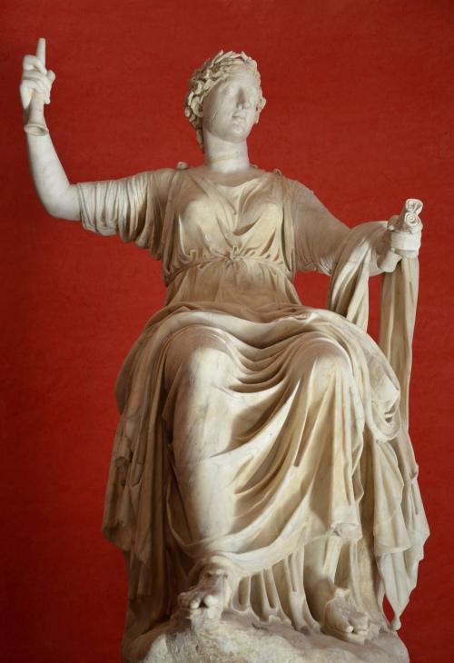 Clio, Muse of history, unearthed at Hadrian's Villa, Tivoli © Carole Raddato
