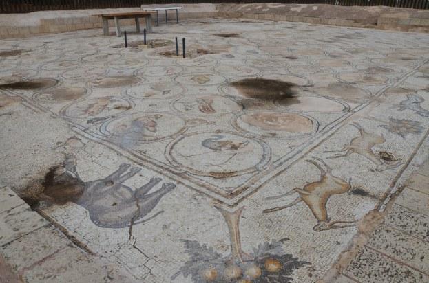 6th century AD Bird Mosaic, of a large villa or mansion, Caesarea, Israel © Carole Raddato