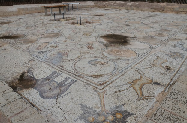 6th century AD Bird Mosaic, of a large villa or mansion, Caesarea, Israel © Carole Raddato