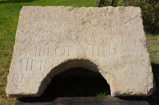 Latin inscription dedicated to Hadrian found in Jerusalem, it was incorporated in secondary use around the opening of a deep cistern © Carole Raddato