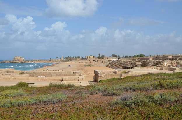 Herod the Great's palace and circus, Caesarea, Israel © Carole Raddato