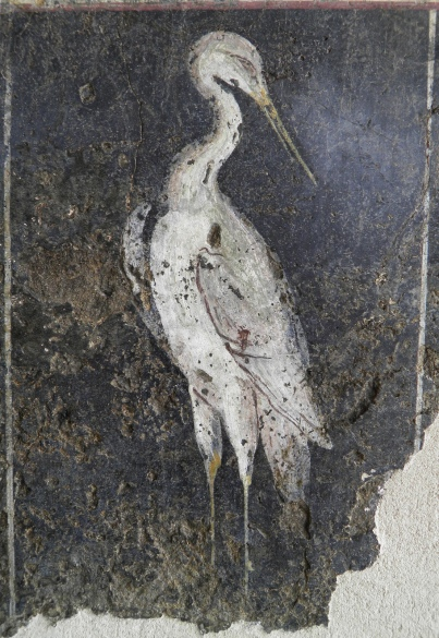 Roman fresco depicting a stilt, from a house in Vienna, 1st century AD, Musée gallo-romain de Saint Romain en Gal, Vienne
