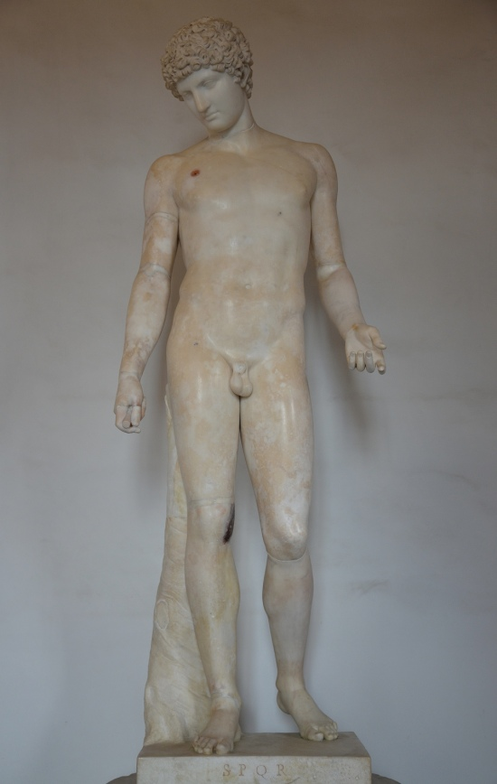 Art and sculptures from Hadrian's Villa: Statue of the young god Hermes, known as 'Capitoline Antinous'