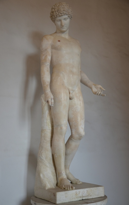 The so-called Capitoline Antinous, now considered to be a late Hadrianic / early Antonine copy of an early 4th century BC Greek statue of Hermes, found at Hadrian's Villa, Palazzo Nuovo, Capitoline Museums © Carole Raddato