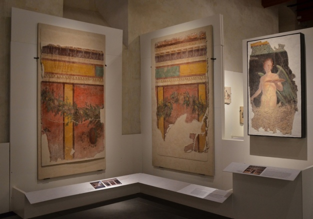 Wall panels from the Villa of Publius Fannius Synistor at Boscoreale, 40–30 BC, Empire of colour. From Pompeii to Southern Gaul, Musée Saint-Raymond Toulouse © Carole Raddato